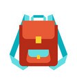 stylized backpack vector image vector image