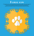 trace dogs Floral flat design on a blue abstract vector image