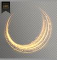transparent golden light effect background vector image vector image