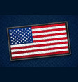 usa flag patch vector image vector image