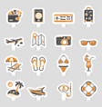 vacation and tourism icons sticker set vector image vector image
