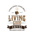 vintage style coffee shop logo vector image vector image