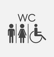wc toilet flat icon men and women sign for vector image vector image