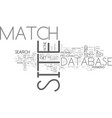 what is site match text word cloud concept vector image
