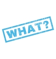 What Question Rubber Stamp vector image vector image