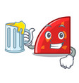 With juice quadrant mascot cartoon style