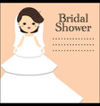 Young elegant bride vector image