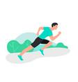 young man jogging marathon racer running athlete vector image vector image