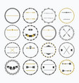 black and golden hand drawn empty circle border vector image