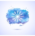 watercolor background winter vector image