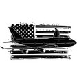 airplane with american flag vector image vector image