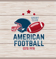 american football or rugclub badge vector image vector image