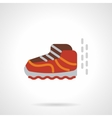 Baby shoe flat color design icon vector image vector image