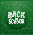 back to school lettering in doodle circle vector image
