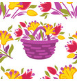 Background seamless pattern with spring