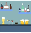 Bar with alcoholic beverages vector image