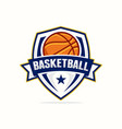 basketball logo template vector image