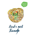 birds nest kunafa vector image vector image
