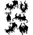 bizarre bats set vector image vector image
