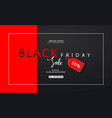 black friday sale background modern design vector image