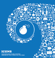 bomb icon sign Nice set of beautiful icons twisted vector image vector image