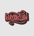 brooklyn new york usa label sign logo hand dra vector image
