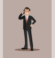 businessman talking on the phone flat design vector image vector image