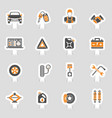 car service icons sticker set vector image