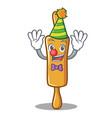 clown rolling pin character cartoon vector image vector image