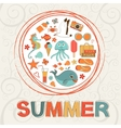 Colorful summer composition vector image vector image