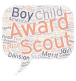 Common Boy Scout Awards text background wordcloud vector image vector image