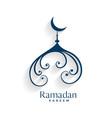 creative mosque design ramadan kareem background vector image vector image