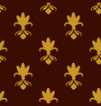 dark brown background with beautiful gold ornament vector image
