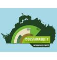 eco sustainibility vector image