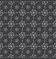 elegant flower seamless pattern vector image
