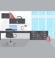 empty no people workplace modern office interior vector image vector image