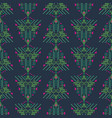ethnic xmas eve boho green and blue geometric vector image