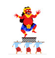 evil giant spirit statue parade in bali vector image vector image