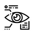 eye biometric data and information icon vector image vector image