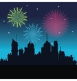 firework celebration explosion night icon vector image vector image