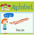 Flashcard letter B is for bacon vector image vector image