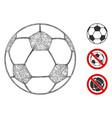 football ball polygonal web mesh vector image vector image