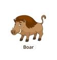 Forest animal boar cartoon for children vector image vector image