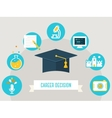Graduation Cap Surrounded by Education Icons and vector image vector image