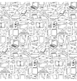 Hand drawn Office seamless pattern vector image