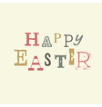 happy easter vintage lettering vector image vector image