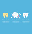 healthy smiling white tooth icon crying bad ill vector image vector image