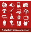 hobby icon collection vector image vector image