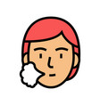 human sneezing color icon vector image vector image
