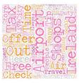 Ireland text background wordcloud concept vector image vector image